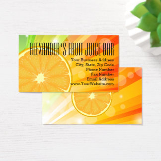 Orange Slice Citrus Fruit Health Juice Smoothie Business Card