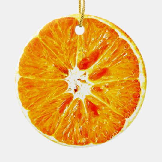 Orange Slice Dble-sided Ornament