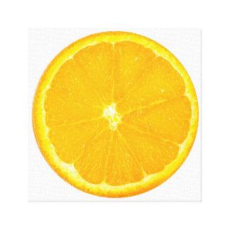 Orange Slice Fruit Art Canvas Print
