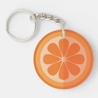 Orange Slice Key-chain Key Ring