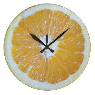 Orange Slice Novelty Large Clock