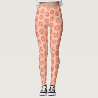 Orange Slice Pattern Leggings