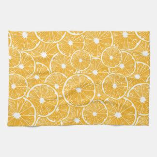 Orange slices pattern design hand towel