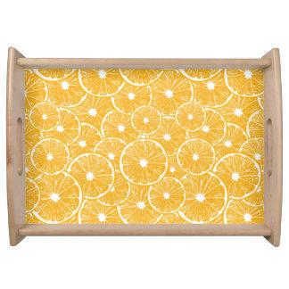 Orange slices pattern design serving tray