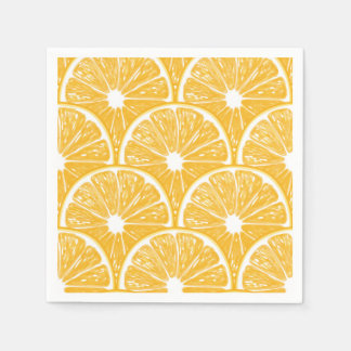 Orange slices, tropical fruit pattern design disposable napkins