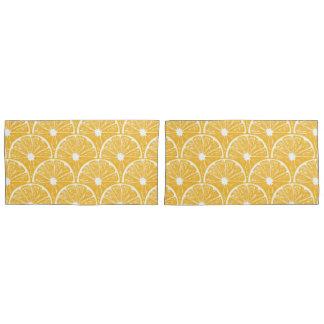Orange slices, tropical fruit pattern design pillowcase