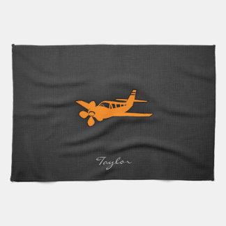 Orange Small Airplane Kitchen Towels