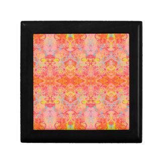 orange small square gift box