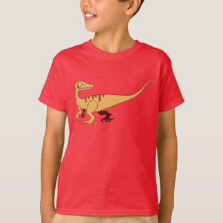 Orange Smiling Raptor T-Shirt