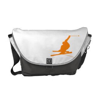 Orange Snow Ski Courier Bags