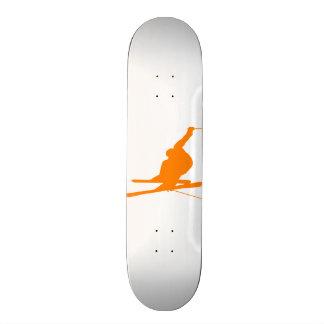 Orange Snow Ski Custom Skateboard