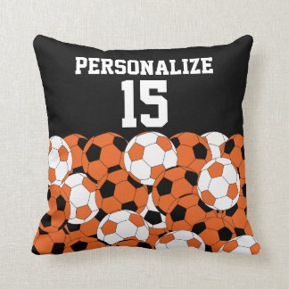 Orange Soccer Ball Collage | DIY Name & Number Cushion