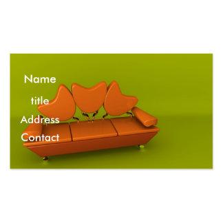 Orange Sofa Business Cards