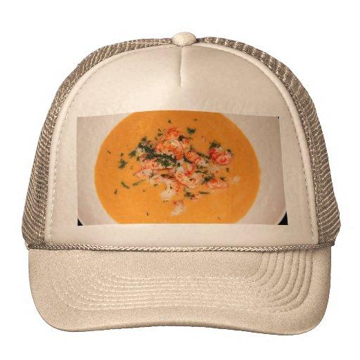 Orange soup hat