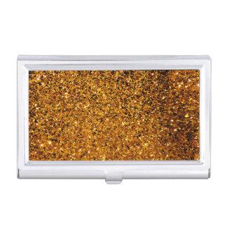 Orange Sparkles Business Card Cases