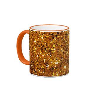 Orange Sparkles Ringer Mug