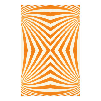 Orange spiral pattern stationery paper