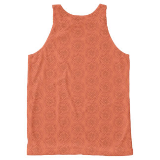 Orange spirals All-Over print singlet