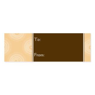 Orange Spirals Pattern Pack Of Skinny Business Cards