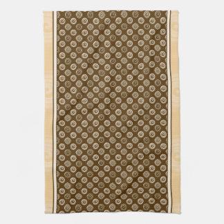 Orange Spirals Pattern Hand Towel