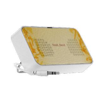 Orange Splatter Design Portable Speakers