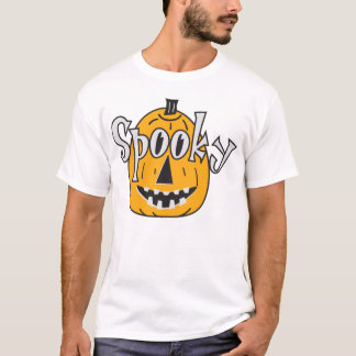 Orange Spooky Pumpkin T-Shirt
