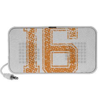 Orange Sports Jerzee Number 16.png Laptop Speaker