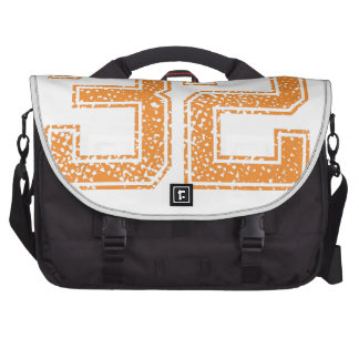 Orange Sports Jerzee Number 32.png Laptop Bags