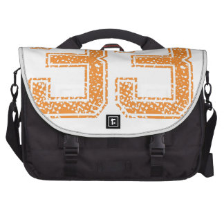 Orange Sports Jerzee Number 33.png Bags For Laptop