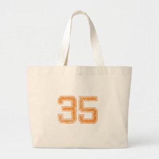 Orange Sports Jerzee Number 35.png Jumbo Tote Bag