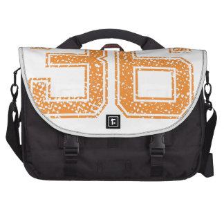 Orange Sports Jerzee Number 36.png Laptop Bag
