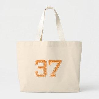 Orange Sports Jerzee Number 37.png Jumbo Tote Bag