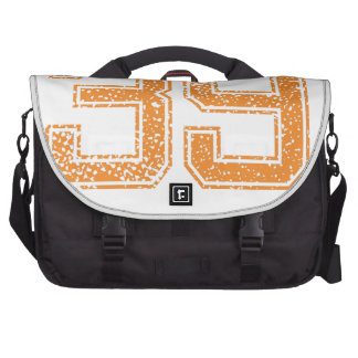 Orange Sports Jerzee Number 39.png Bags For Laptop