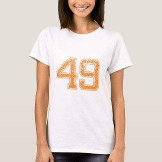 Orange Sports Jerzee Number 49.png T-Shirt