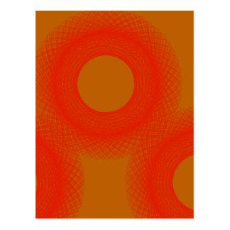 orange spot yellow spot turn into sun post card