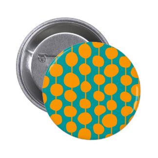 Orange Spots and Lines 6 Cm Round Badge
