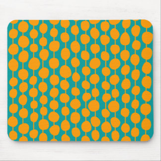 Orange Spots and Lines Mouse Pads