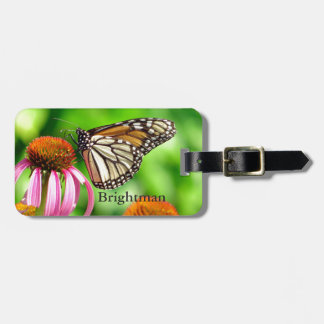 Orange Spotted Butterfly Luggage Tag