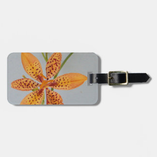 Orange spotted Iris called a  Blackberry lily Luggage Tag