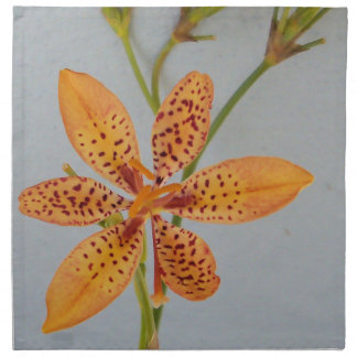 Orange spotted Iris called a  Blackberry lily Napkin