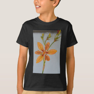 Orange spotted Iris called a  Blackberry lily T-Shirt
