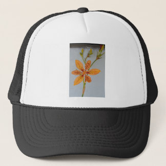 Orange spotted Iris called a  Blackberry lily Trucker Hat