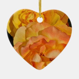 Orange spring rose blossoms ornament