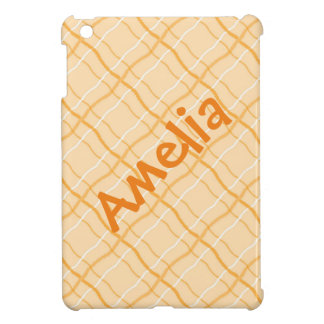 Orange Square Pattern Name iPad Case