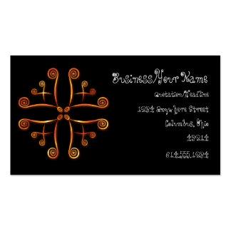 Orange Squiggly Designed Business Cards