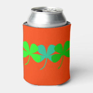 Orange St. Patty's Day 4 Leaf Clovers 4Eleanor Can Cooler