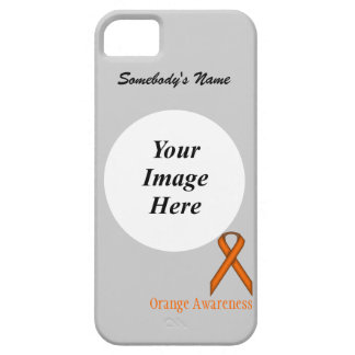 Orange Standard Ribbon by Kenneth Yoncich Case For The iPhone 5