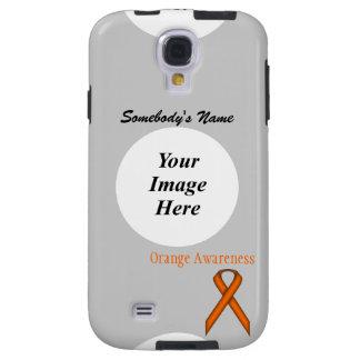 Orange Standard Ribbon by Kenneth Yoncich Galaxy S4 Case