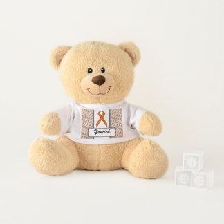 Orange Standard Ribbon by Kenneth Yoncich Teddy Bear