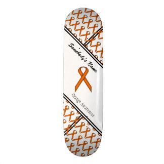 Orange Standard Ribbon Skate Board